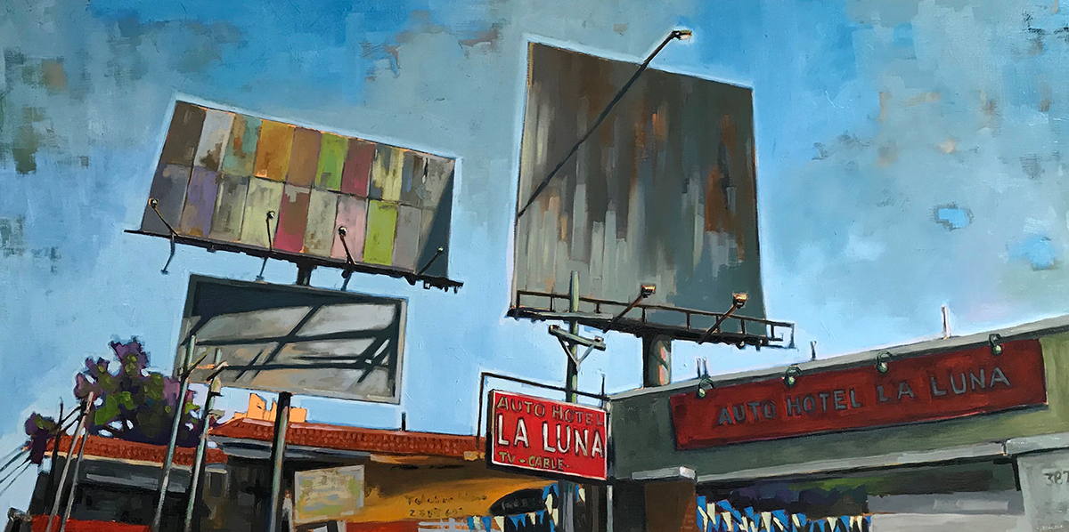 Urban Landscape Billboard Oil Paintings - Artist Randy Hryhorczuk