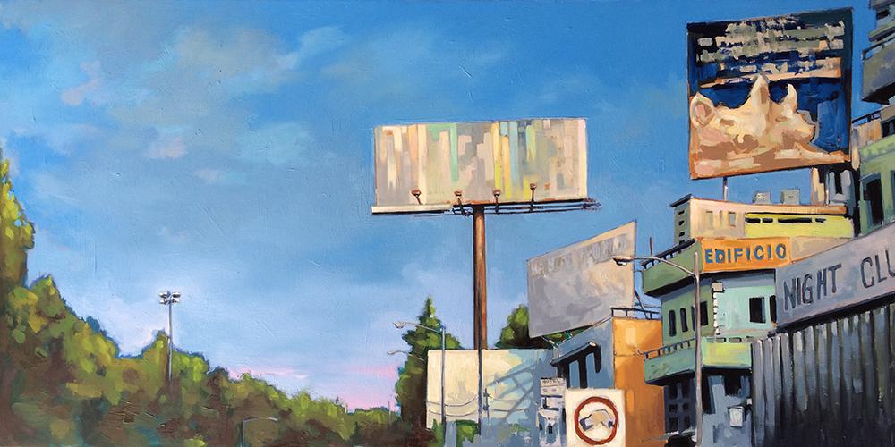 Urban Landscape Billboard Oil Paintings - Artist Randy